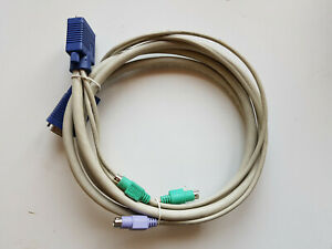 Kvm-Switch Cable 1,8 M VGA Male + Ps/2 Plug To