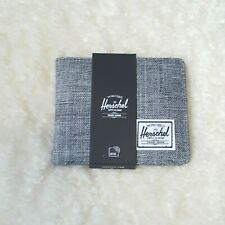 Herschel Supply Co Men's Wallet Bi-fold Roy RFID Raven Crosshatch Grey