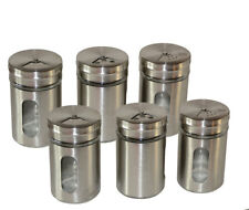 6 Stück Gewürzglas Gewürzdosen Gewürzstreuer Gewürzgläser Salz Pfeffer streuer