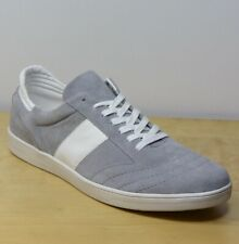 M&S Real SUEDE Lace Up TRAINERS ~ Size 11 (eu 46) ~ GREY