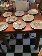 "Hamilton Plates Maud Humphrey Bogart ""Little Ladies"" - Full Set Of 8 Collector"