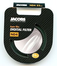Jacobs 52mm ND4 Super Slim Neutral Density High Quality Glass Camera Filter - UK