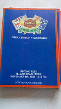 8.11.86 Great Britain v Australia @ Elland Road, Leeds 2nd test