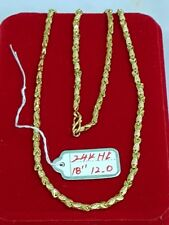 """Gold Authentic 24k hk gold.necklace 18"""" chain"""