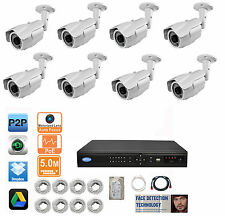 8x 5MP 2.8-12mm Motorized IP Camera 16CH 5MP FACE DETECTION NVR 2TB HD IP System