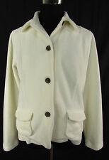 LANDS' END Fleecejacke Stretchjacke, Damenjacke Jacke woll - weiß Gr M = 38-40