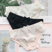 3pcs Japanese Lolita Lace Bow Star Girl knickers Women Panties Cotton Briefs