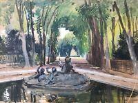 Neville Stephen Bulwer-Lytton Parc & Fontaine & Arbres & Peinture