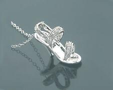 Colgante Estilete Joya De Oro Diamantes 14 K Blanco 0,12 Quilates Wesselton