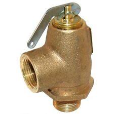 """VALVE STEAM PRESSURE SAFETY RELIEF 3/4"""" NPT Brass 35 PSI 610 LB/HR 561346"""