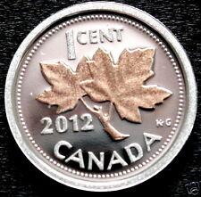 Canada 2012 ~RARE~ Pure .9999 SILVER & 24K  ROSE GOLD PENNY