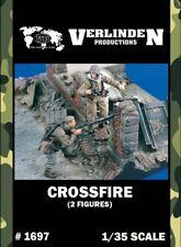 Verlinden 1:35 Crossfire - 2 Resin Figures Kit #1697