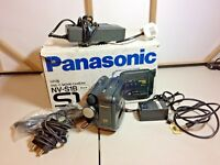 Panasonic VL-E30H VHS-c Camcorder spares - Boxed with leads, charger etc