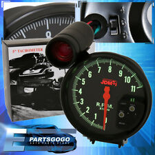 "Jdm 5"" Black Tachometer 11K Rpm Speedometer Gauge + Shift Light Integra Civic"