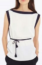 NWT Gorgeous Ann Taylor  Belted Colorblock Shell Top Shirt Tank Size S-6  $79.50