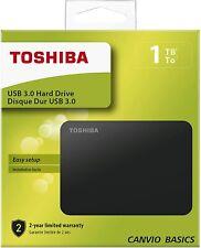 Toshiba Canvio Basics - 1TB HDD externo portátil USB 3.0 de 2.5 pulgadas disco