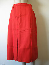 New Vintage Red Wool Skirt, Calf Length, Size 14, Lined, A-Line, 1960s, 1970s