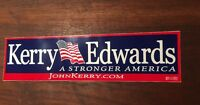 Official Kerry Edwards 2004 Presidential Campaign Memorabilia Bumper Stickers