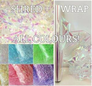 Shredded Tissue Paper Metallic Shred Hamper Gift Packaging Sparkly Christmas box