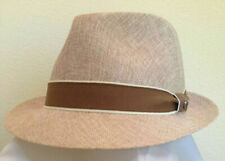 STETSON SALE * MENS BROWN FEDORA HAT * M or L * NEW SUN SHADY PANAMA STYLE UPF50