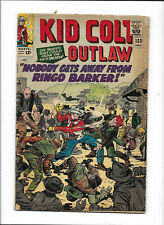 """KID COLT OUTLAW #123 [1965 GD] """"NOBODY GETS AWAY FROM RINGO BARKER!"""""""