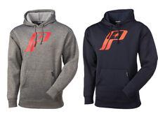 New OEM Polaris Men's Retro Logo Hoodie - Gray/Red & Blue/Orange