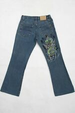 Richmond IN RICH we Trust Rare Vintage 90s Bootcut Denim Jeans I42 Uk10 Small
