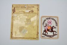 """Holly Hobbie Emblems """" Share Your Happiness """" Patch Applique Retro Three Fish"""