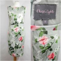 PHASE EIGHT Meadow Floral Print Dress UK 12 Stretch Wedding Races Summer