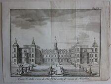 1743 FACCIATA CASA HATFIELD Salmon Albrizzi Hatfield House Hertfordshire
