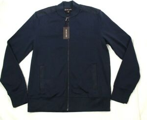 NWT Michael Kors Men's Blue Baseball Style Jacket Size M Retail