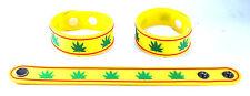 MARIJUANA LEAF HIPPIE  Rubber Bracelet Wristband Free Shipping Bob Marley aa71