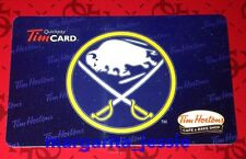 TIM HORTONS CAFE & BAKE SHOP GIFT CARD BUFFALO SABRES NHL 2014 NO VALUE FD43253