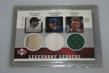 2002-03 UD Superstars Legendary Leaders Larry Bird Wayne Gretzky DiMaggio Jersey