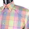 Peter Millar Men M Medium Button Down Long Sleeve Shirt Pink Blue Plaid Pocket