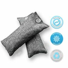 2pcs Natural Air Purifying Bags Mini Bamboo Charcoal Bags Deodorizer Eliminator