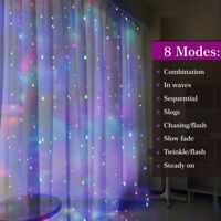 3M LED Fairy Curtain String Lights Wedding Party Xmas Room Decor Perfect Holiday