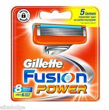 Gillette Fusion Power Blades X 8 (100% original de Reino Unido)
