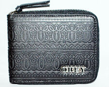 Obey Men Leather Wallet name BOMBED