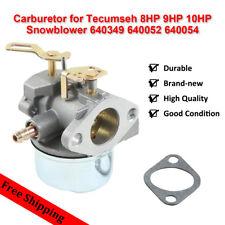 Carburetor for Tecumseh 8HP 9HP 10HP Snowblower 640349 640052 640054