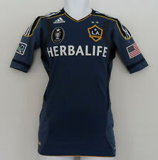 Adidas LA GALAXY TECHFIT AUTHENTIC Soccer Jersey MLS CUP CHAMPION Shirt~Men sz 8