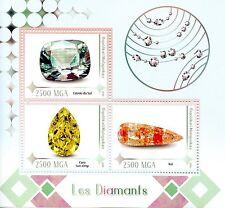 Madagascar 2016 neuf sans charnière diamants koi estrla do sul 3v m/s jewels bijoux timbres