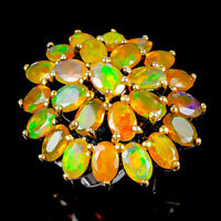 Top Rainbow6x4mm Natural Orange Opal 925 Sterling Silver Ring Size 6.5/R121993
