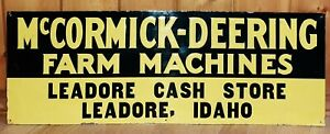 McCormick-Deering Farm Machines, Vintage Sign, Leadore, Idaho