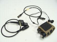 Used Nacre Quietpro Single Tactical Combat Headset W/ Motorola XTS Series Cable