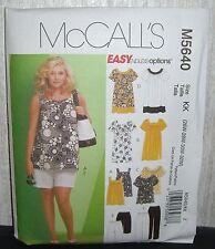 Womens Tops Dresses Shorts Pants Sewing Pattern/McCall's M5640/SZ 26W-32W/UCN