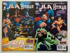 JLA Hitman #1 & #2 complete series (DC 2007) VF+ condition issues.