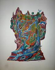 Aristide Caillaud Lithographie signée art abstrait art brut