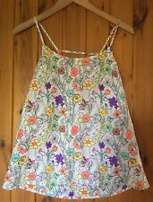 Fab Floral Summer Top/New & Tags/By Golddiga/Uk 12/Strappy/Holidays/White