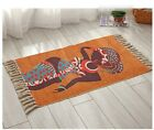 Large BOHEMIAN HAND WOVEN Cotton Carpet Bedside for Living Room Bedroom Deco